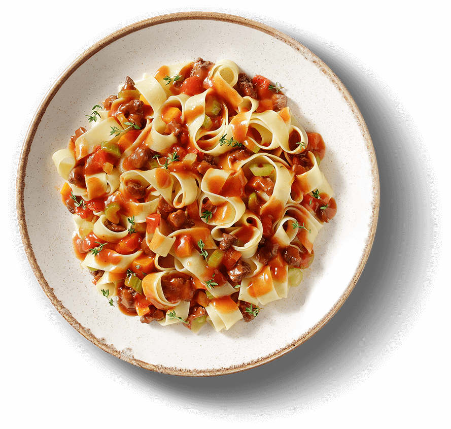 Main Plate of PAPPARDELLE RAGÙ