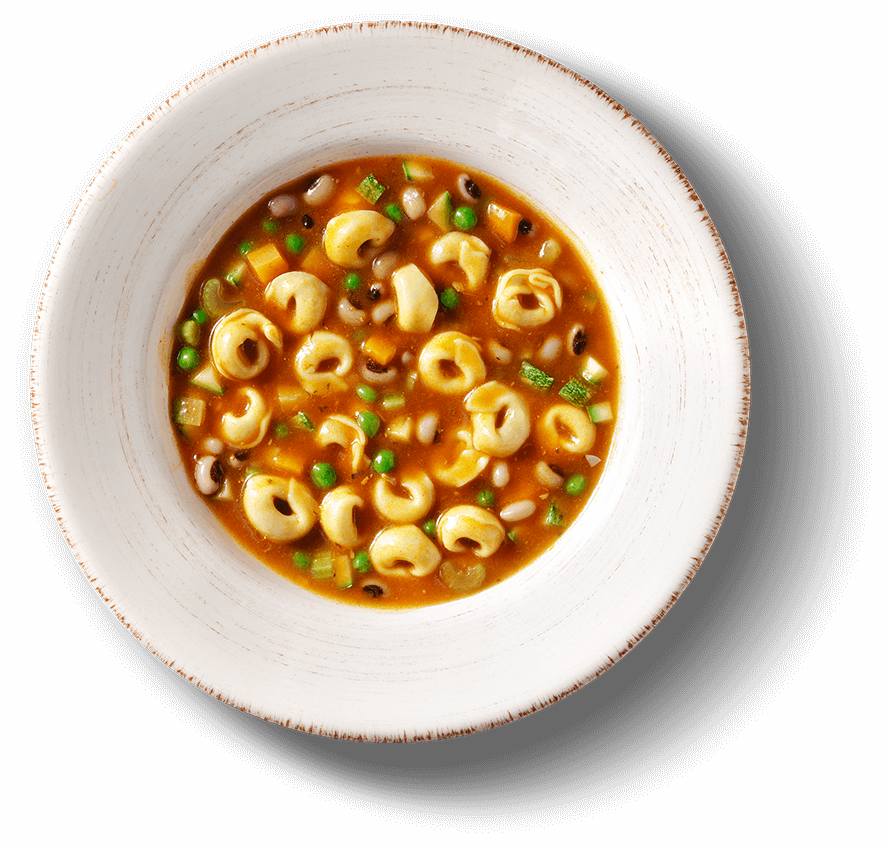 Main Plate of TORTELLINI ΣΕ ΣΟΥΠΑ MINESTRONE