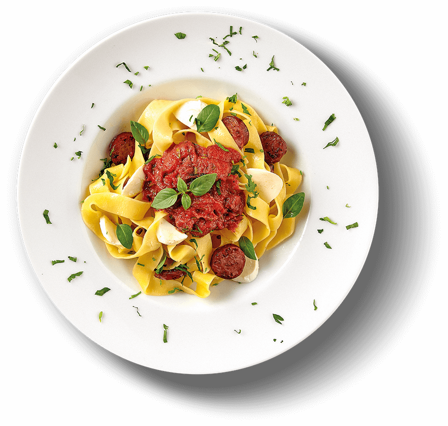 Main Plate of PAPARDELLE A ZESTY